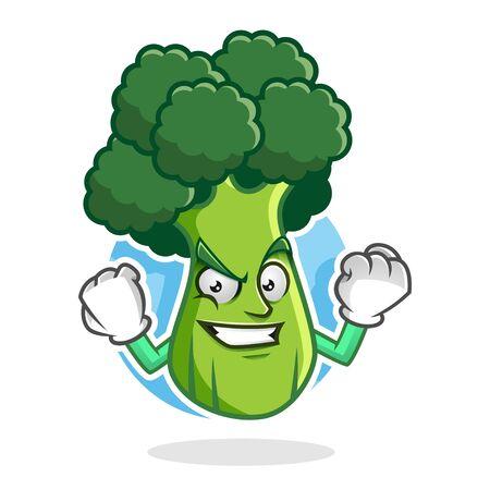 Conception de personnage de brocoli ou mascotte de livre, parfaite pour le logo, le Web et l'illustration imprimée Logo