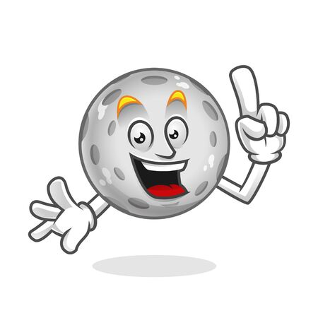 Vector Moon character design or Moon mascot, perfect for logo, web and print illustration Illustration