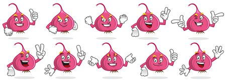 Onion character design or onion mascot, perfect for logo, web and print illustration