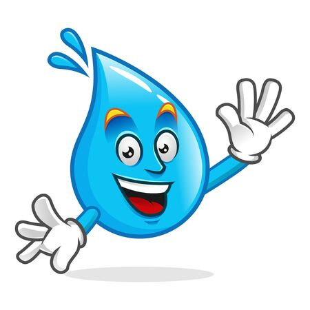 Vector water character design or water mascot, perfect for logo, web and print illustration