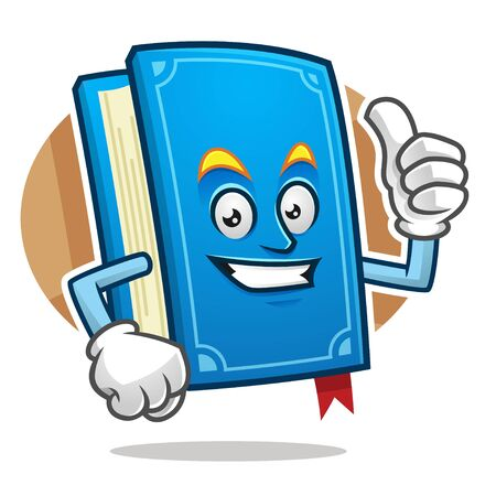Book character design or book mascot, perfect for logo, web and print illustration