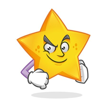Vector Star character design or Star mascot, perfect for logo, web and print illustration Иллюстрация