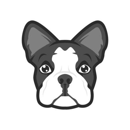 Vector of cute dog head cartoon character, for avatar icon or logo