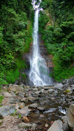 the gitgit waterfall on singaraja, bali, indonesia photo
