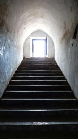 taman: underground stepway tunnel on taman sari jogjakarta