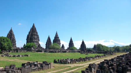 compounds: prambanan temple compounds - the tallest and most beautiful, largest hindus temple in the world Stock Photo