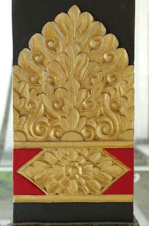 jogjakarta: Beautiful ornament in Yogyakarta Sultanate Palace Stock Photo