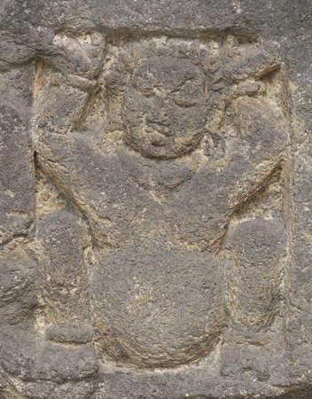 bas relief: bas relief of gana Stock Photo