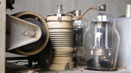 conductor electricity: vacuum tube communication radio Stock Photo