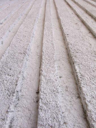 ribbed: ribbed cement wall