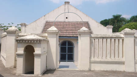 colonial building: dutch colonial building on vredeburg fort,  jogjakarta