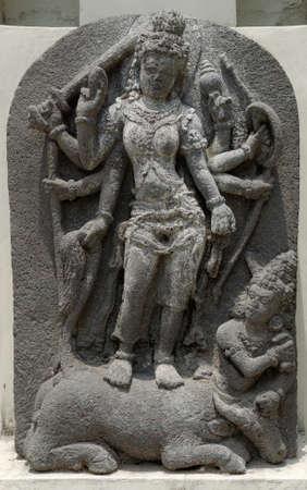 parvati: The Statue of Goddess Durga Mahisasura Mardhini, 8th - 10th century