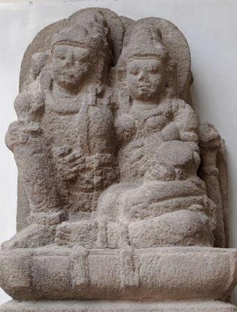 vishnu: The Statue of Vishnu and Lakshmi, 8th - 10th century Stock Photo