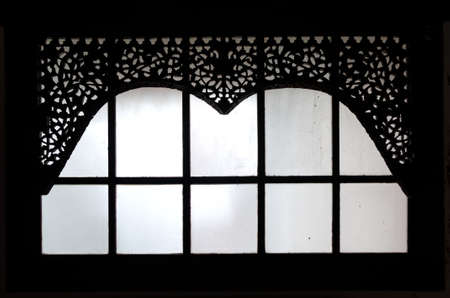 old window: old carving window