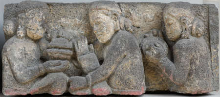 12th century: Music Player Relief, 10th - 12th century