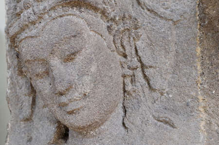 devi: The Head of Devi Relief, 8th - 10th Century Stock Photo