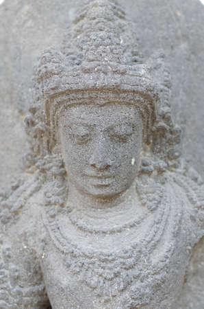 gautama: Head of The Bodhisattva Statue, 8th - 10th century Stock Photo