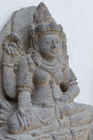 14th century: The Statue of Dewi Sri, 12th - 14th century Stock Photo