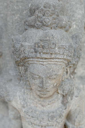 shakti: Head of Goddess Durga Mahisasura Mardhini Statue, 10th century