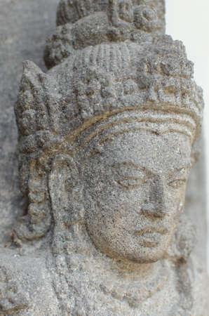 devi: Head of Goddess Durga Mahisasura Mardhini Statue, 10th century