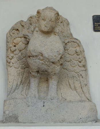 12th century: Kinnari Relief, 10th - 12th century Stock Photo