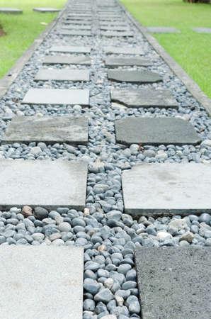 stone path: stone path with pebble