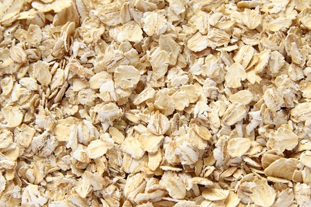 Oat flakes. Focus is on the center. photo