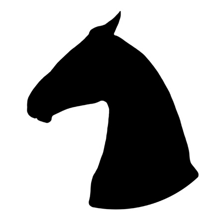 Horse head - black silhouette over white Stock Photo - 12956653
