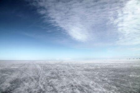 ladoga: Icy surface of  Ladoga lake