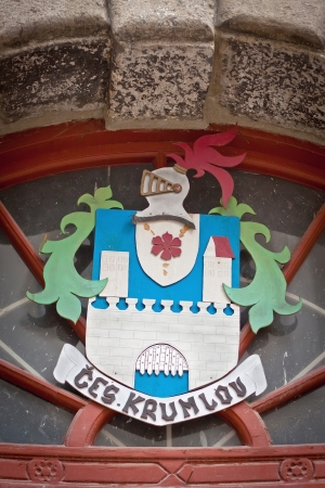 Coat of arms on the wall in the town of Cesky Krumlov, Czech Republic Stock Photo - 17261829