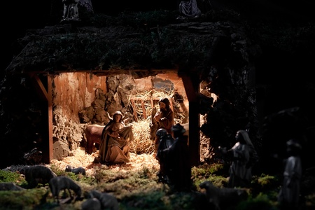 Christmas scene in the Cathedral of Our Lady of snow. Prague, Czech Republic. Stock Photo - 17262679