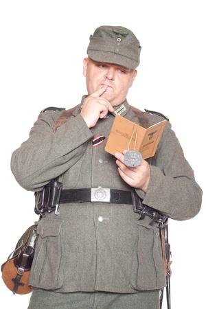 reich: Man in clothes of German soldier Third Reich Stock Photo