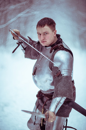 panoply: Medieval knight. Interclub Association Cavalerie. St.Petersburg, Russia.
