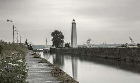 st  petersburg: View of embankment in Kronstadt, St. Petersburg, Russia.