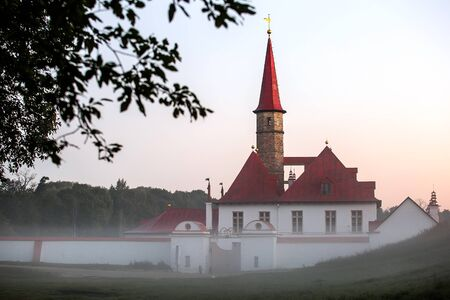 and st petersburg: Priory Castle in Gatchina. St. Petersburg, Russia.