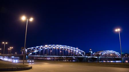 peter the great: The Peter Great bridge  (Bolsheokhtinsky), St. Petersburg, Russia