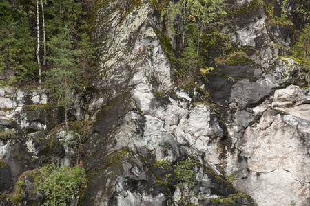 karelia: Ruskeala marble career in Karelia, Russia Stock Photo