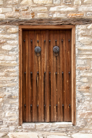 Door details of country house, Cyprus. Stock Photo