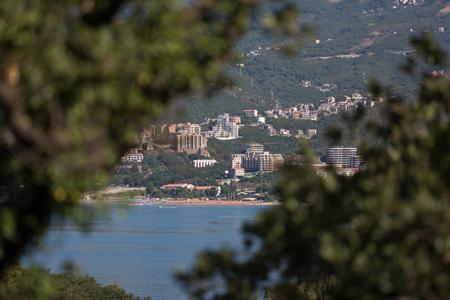 Beautiful view of the seashore on the Budva Riviera. Budva, Montenegro. Stock Photo