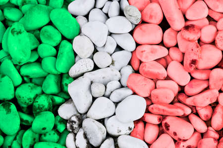 Italian flag stones photo