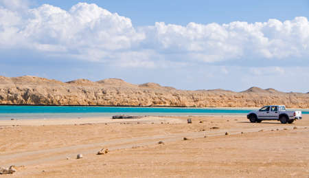 rea: Magic lake in rea sea in Egypt Stock Photo