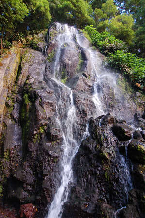 water s edge: Waterfall at Azores islands
