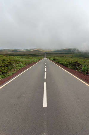 agriculture azores: Road between the volcanoes in azores, fayal, portugal
