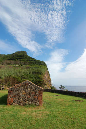 agriculture azores: view over the coast of the Azores, Portugal