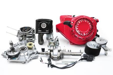 camshaft: sparepart of multi purpose engine Stock Photo