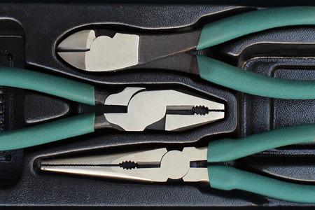 dikes: hand tool set, Pliers Set Stock Photo