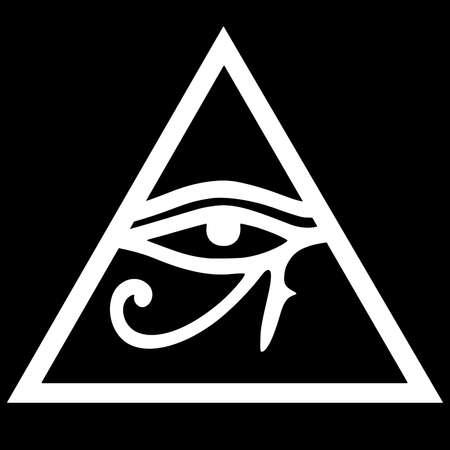 ojo de horus: Illuminati s�mbolo