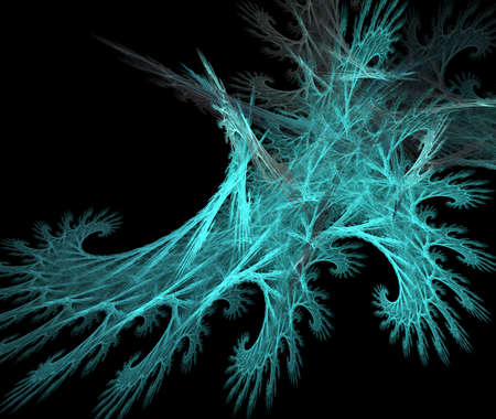 cold weather: Winter and ice incoming  This fractal symbolized cold ice weather  Stock Photo