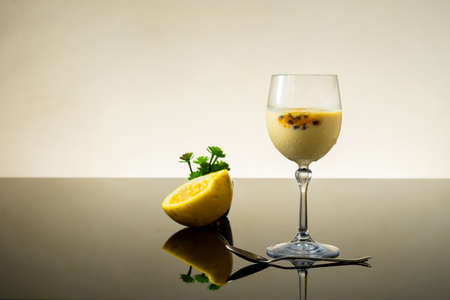 passion fruit mousse served in a bowl