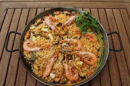 Paella de marisco Foto de archivo